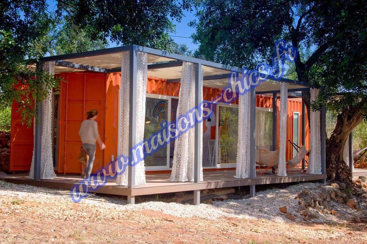 Projets maisons conteneurs maritimes maisons chics for Architecture conteneur