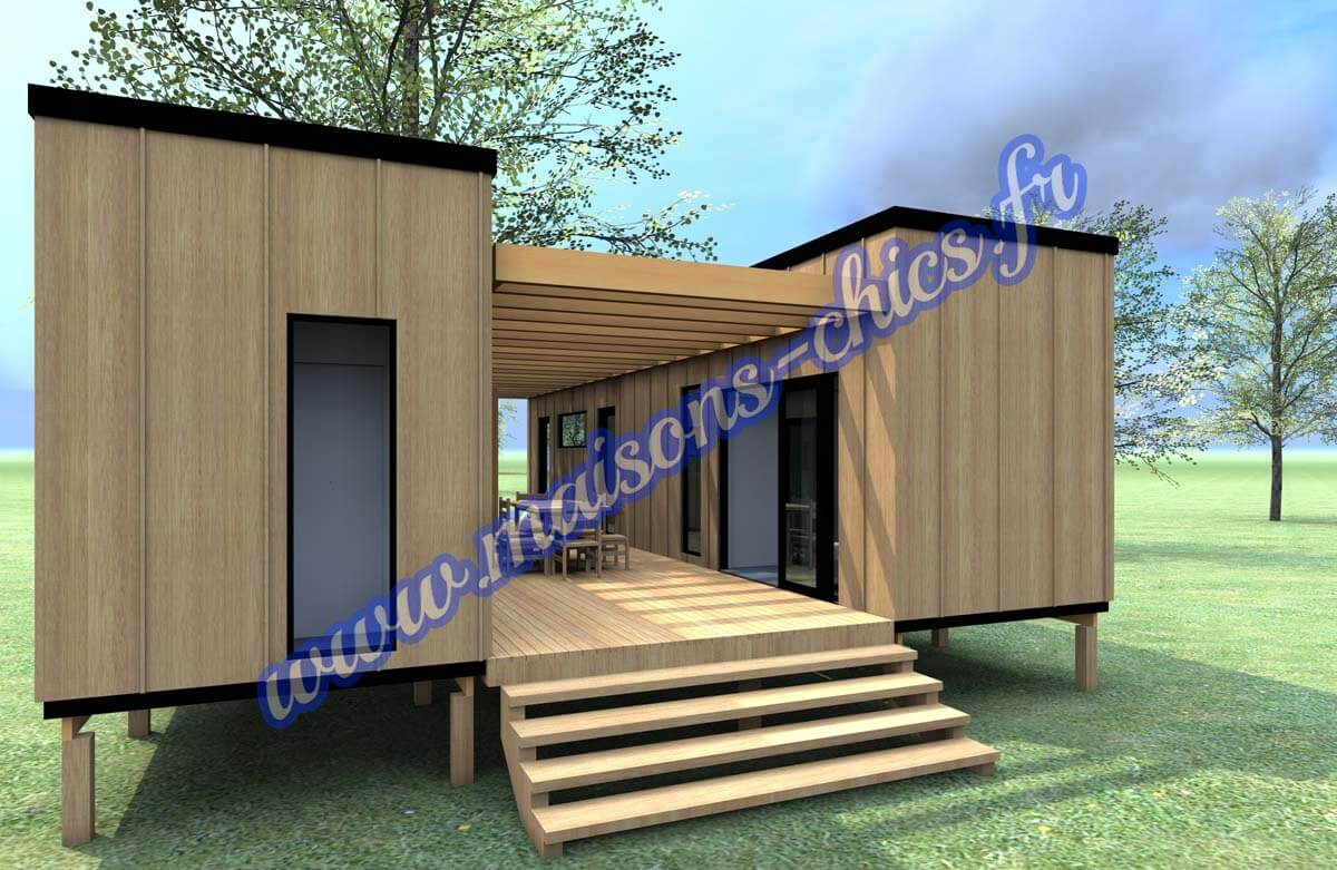 Projets maisons conteneurs maritimes maisons chics for Home designs com
